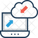 Cloud Sync Computing Icon