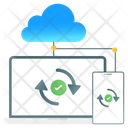 Cloud Backup Cloud Sync Cloud Synchronization Icon