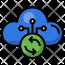 Cloud Sync Sync Multimedia Option Icon