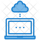 Laptop Cloud Cloud Computing Icon