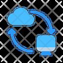 Cloud Synchronization Icon