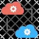 Cloud Sync Computing Icon