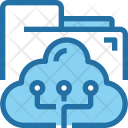 Cloud synchronize with folder Icon