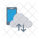 Cloud synchronize with mobile Icon