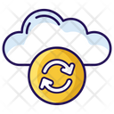 Cloud Syncing Cloud Computing Cloud Refresh Icon