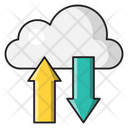 Cloud Syncing Download Icon