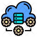 Technology Cloud System Online Icon