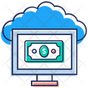 Cloud Technology Cloud Network Online Financial Network Icon