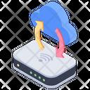 Cloud Network Hub Network Connection Internet Hub Icon
