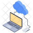 Cloud Working Cloud Computing Cloud Technology Icon