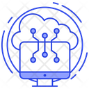 Cloud Technology Cloud Storage Cloud Computing Icon