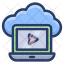 Cloud Video Streaming Cloud Technology Cloud Computing Icon