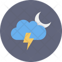 Moon Cloud Thunder Icon