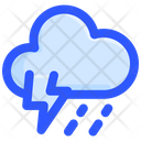 Cloud Thunder Rain Icon