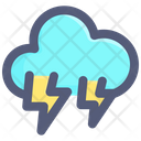 Cloud Lightning Thunder Icon