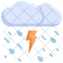Thunder Cloud Rain Icon