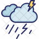 Clouds Raining Thunder Icon