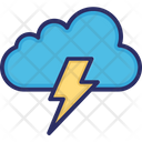 Cloud Thunder Lighting Icon