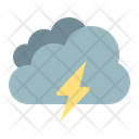 Thunder Cloudy Cloud Icon