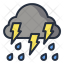 Cloud Thunder Storm Weather Icon