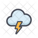 Cloud Thunder Thunderstorm Lightning Icon
