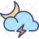 Cloud Thunder Moon Icon