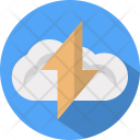Cloud Thunderstorm Computing Icon