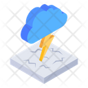 Lighting Shower Cloud Thunderstorm Cloudy Storm Icon