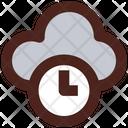 Cloud Time Data Storage Time Time Limit Storage Icon