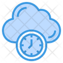 Clock Time Cloud Icon