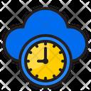 Cloud Time Cloud Clock Clock Icon