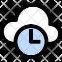 Cloud Time Cloud Clock Cloud Icon