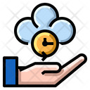 Cloud Time Management Icon