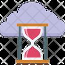 Cloud Timer Cloud Hourglass Hourglass Icon