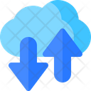 Cloud Network Transfer Icon