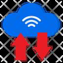 Cloud Transfer Cloud Server Arrows Icon