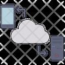 Cloud Transfer Cloud Data Sharing File Transfer Icon