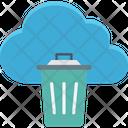 Cloud trash Icon