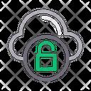 Unlock Cloud Database Icon