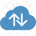 Cloud Up Down Arrow Icon