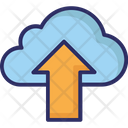 Cloud Upload Cloud Uploading Cloud Data Transmission Icon