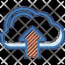 Cloud Upload Uploading Data Transmission Icon