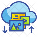 Cloud Upload Download Data Transfer Clouds Icon