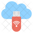 Cloud Usb Wifi Icon