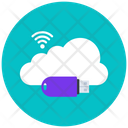 Cloud Usb Cloud Wifi Wireless Connection Icon