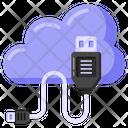 Flash Drive Cloud Usb External Storage Icon