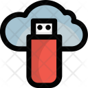 Cloud USB Flash Drive Icon