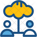 Cloud Users Computing Icon