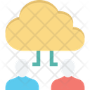 Cloud Computing Cloud User Data Storage Icon