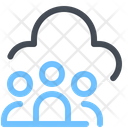 Users Cloud Network Icon